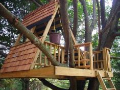 A frames are cool. And of course you need the bucket_ _O) 50 Kids Treehouse Designs