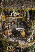 A tiny herb room. Precious herbal arts _ crafts.