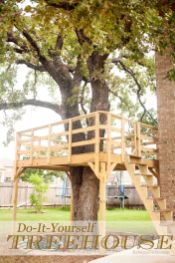 Build Your Own Treehouse_ tips and tricks and tools on how we built it. {DIY}