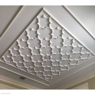 Classically inspired geometric ceiling designs offered in a variety of sizes to accommodate any size