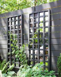 DIY Mirrored Trellis __ with Benjamin Moore_s Regal Exterior_ Matte_ Raccoon Fur 2126_20