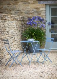 Finished in or lovely Dorset Blue_ our Bistro Set Table & 2 Chairs is big on style and practicality