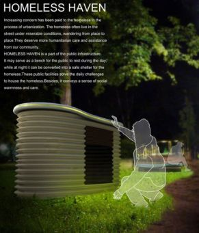Homeless Haven Street Furniture by Ke Wan Xiaohua Ma Xing Guo Qingxiang Zhu _furnituredesigns