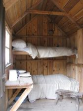 How About we put some simple bunks in our tree house_ would be cool to spend the night in it on a wa