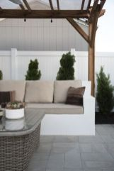 How I painted my outdoor concrete sofa white.