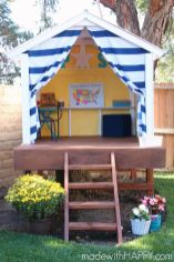 How to make a tree house for under _300. Build your own outdoor playhouse. _ www.madewithHAPPY.com