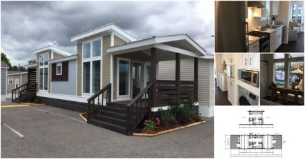If you're looking for a tiny house that will be stationary_ you have to check out this next park mod. The home is 399 square foot and features floor_to_ceiling windows and two massive p