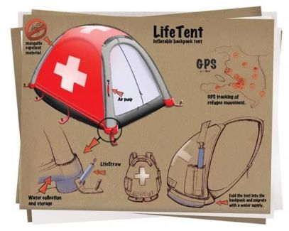 Lifetent_ a portable emergency shelter that folds into a backpack