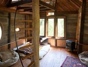 Magical indoors of a tree house _ take me here for an adventure _)