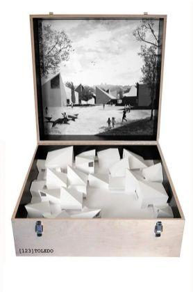 Mansilla _ Tuñón Arquitectos. Visigothic Art Museum of Toledo (Spain_ 2010). Scale 1_50. Box 64x64x80 cm.
