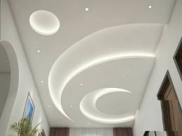 POP false ceiling designs_ Latest 100 living room ceiling with LED lights