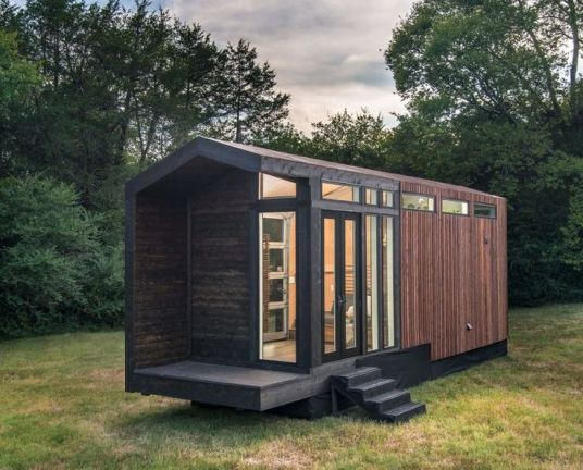 Scaled_Down Farmhouse Homes _ The Frontier Tiny Homes _Orchid_ is a Mini Version of a Classic Design.com)