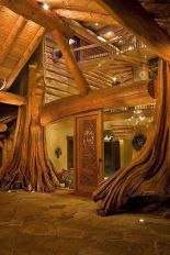 Tree Home WIN (As a rule_ I don_t actually like log houses.... but I_d totally rock this one......)