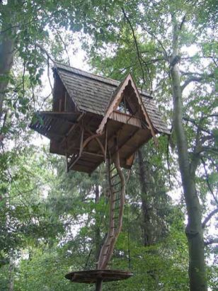 Tree House. _Cathy Kerton_Johnson Nic Could totally pull this one off. Looks easy DIY and totally safe.