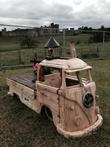 VW Bus Driftwood Storage Bench_Raw _ Cool VW Stuff _ 1