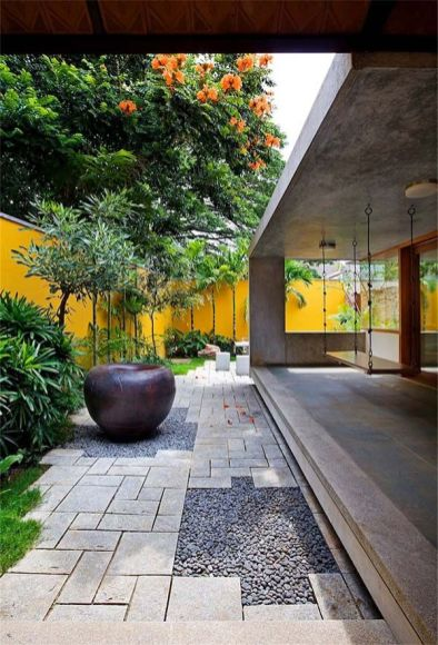 Vibrant home abounding in light and color_ Library House in India