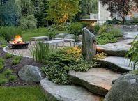 backyard fire pit designs _ natural_backyard_rustic_backyard_Landscaping_ fire pits_ design ...