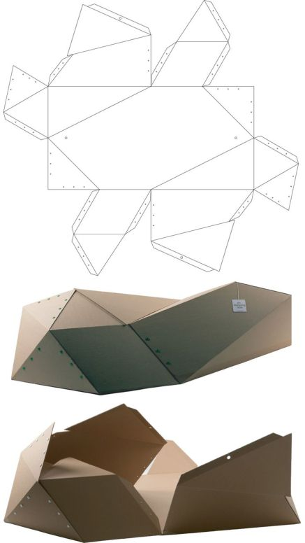hwang kim_s private urban homeless shelter made from pre folded single ply cardboard and held in sha.