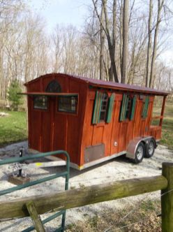 window flaps for travelling _ 16 Ft. Gypsy Wagon Woolywagon Tiny House For Sale_