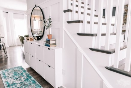 Small-Entry-Makeover-Ikea-Hack-Hallway-Shoe-Storage-32