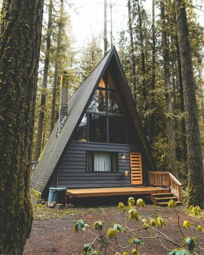 A-frame-cabin-style