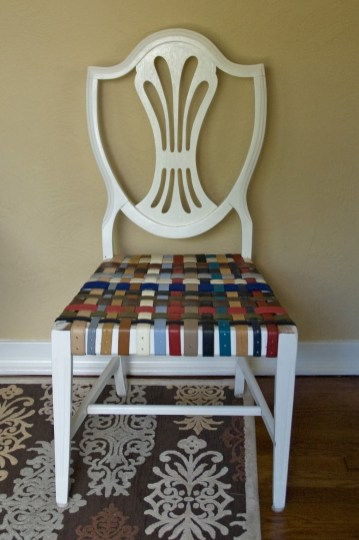 Chair-seat-from-leather-belts