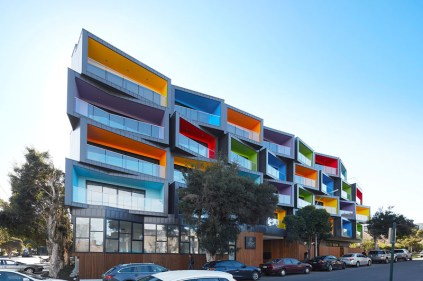 Colorful-apartment-building-balcony