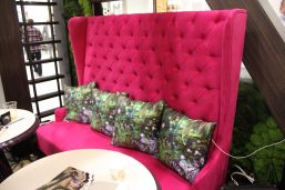 Fuchsia-tall-bench-with-a-tufted-design