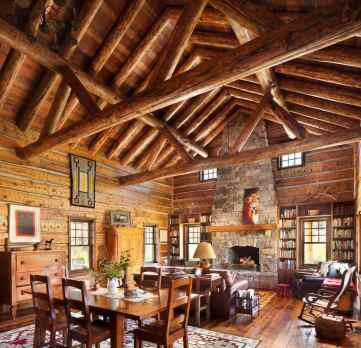 Inviting-rustic-ranch-house-living-room-decor
