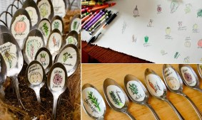 Recycled-Spoon-Garden-Markers