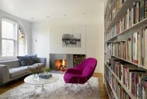Small-living-room-with-womb-pink-chair