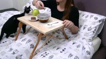Wooden-hangers-bed-table