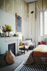 bohemian-bedroom-with-fireplace