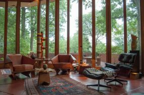 modern-rustic-combo-living-room-eames-lounge-chair