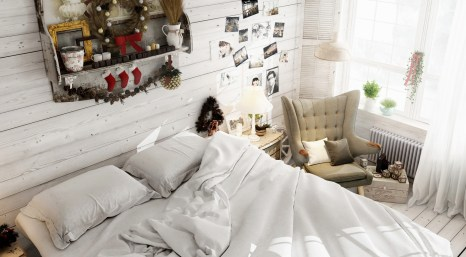 rustic-boho-bedroom-with-holiday-decor