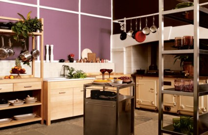 cozy-kitchen-with-purple-walls