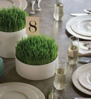 simple-and-laconic-round-planters-with-wheatgrass-are-lovely-and-very-easy-spring-centerpieces-for-any-event