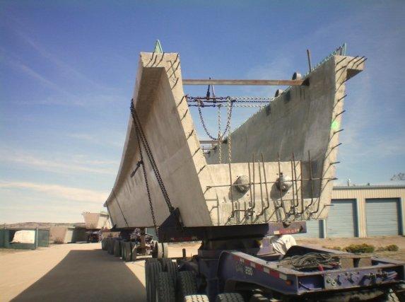 U Tub Composite Bridge Girder being Transported to site