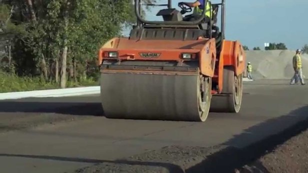 Paving of Roller Compacted Concrete (YouTube)