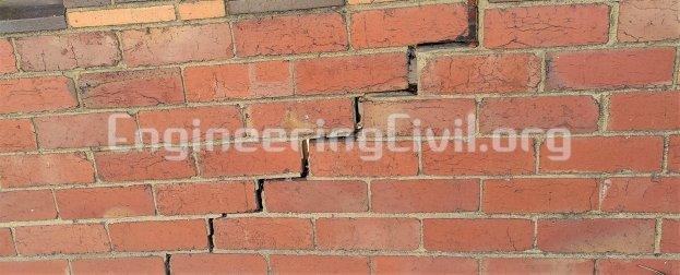 Cracks in Brick Masonry wall along mortar joints