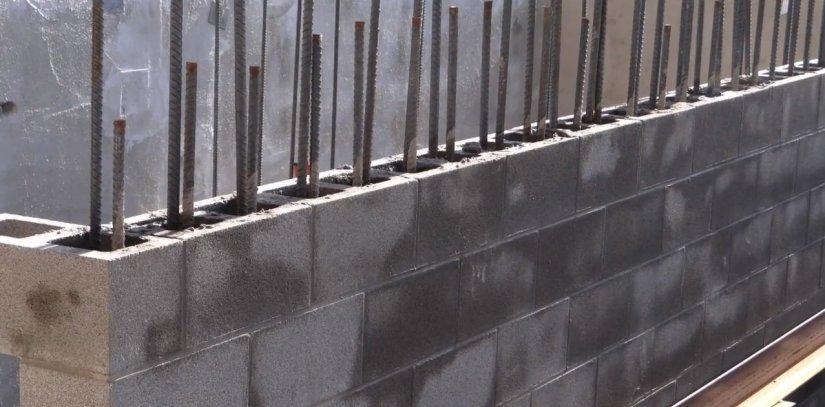 Reinforced CMU Brick walls