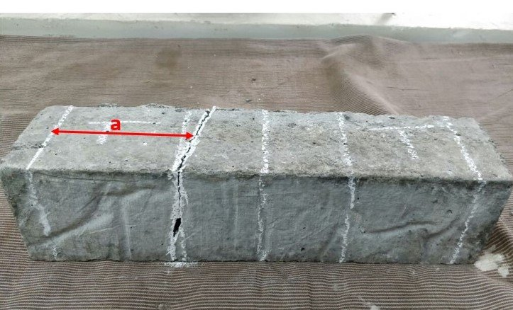 Specimen after Failure for Testing Flexural Strength of Concrete
