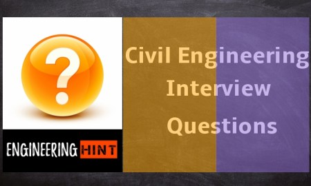 Civil Engineering Interview Questions