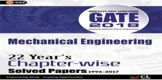 GATE 2018 Chapter-Wise Solved Papers for Mechanical Engineering