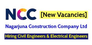 Nagarjuna Construction Company Jobs - Hiring Civil Engineers & Electrical Engineers [New Vacancies]