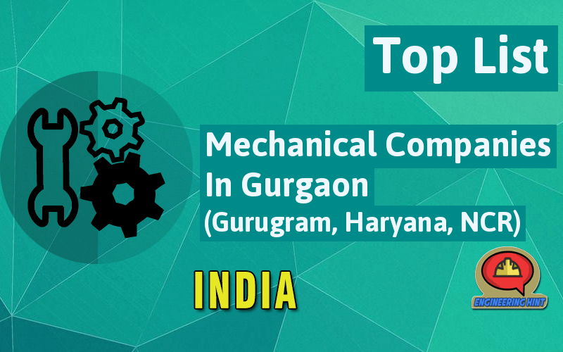 List Of Mechanical Companies In Gurgaon (Gurugram, Haryana, NCR