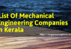 List Of Mechanical Engineering Companies In Kerala