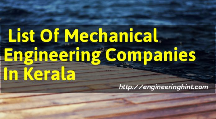 List Of Mechanical Engineering Companies In Kerala