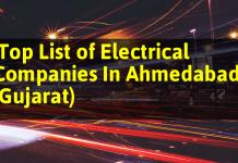 Top List of Electrical Companies In Ahmedabad (Gujarat)