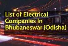 List of Electrical Companies In Bhubaneswar (Odisha)